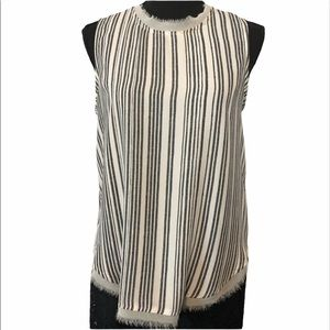 🐝3/15$ Who What Wear sheer sleeveless blouse